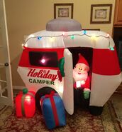 Gemmy Prototype Christmas Santa Holiday Camper Inflatable Airblown