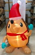 6ft Gemmy Airblown Inflatable Christmas Mixed Media Hedgehog Prototype