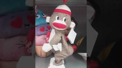 Gemmy animated dancing twerking Valentine sock monkey