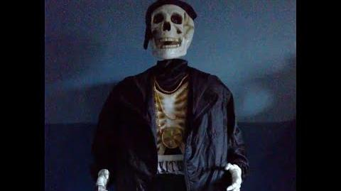 Life Size Dancing Rapper Skeleton
