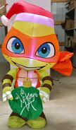 5ft Gemmy Airblown Inflatable Christmas TMNT Big Head Michaelangelo Prototype