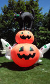 Airblown Inflatable 12.5' Cat Pumpkins Ghosts Halloween Decor Lights Up
