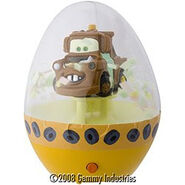 Easter Snowglobe-Tow Mater