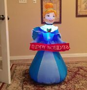 Gemmy Prototype Christmas Disney Princess Inflatable Airblown