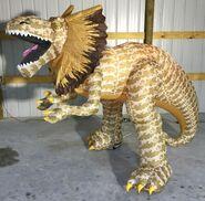 Gemmy Prototype Halloween Inflatable Dilophosaurus Dinosaur 4