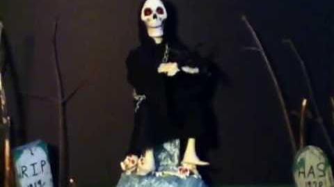 Grim reaper playing violin