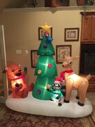 Gemmy Prototype Christmas Critters Scene Inflatable Airblown