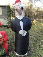 Gemmy Prototype Christmas Inflatable Polar Bear In Tux Tuxedo
