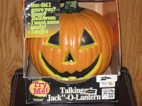 Gemmy talking jack o lantern