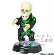 Gemmy Grave Raver Green Skeleton