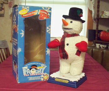 Animated dancing snowman