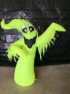 Gemmy Prototype Halloween Inflatable Green Ghost