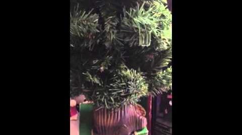 Gemmy animated Chris the talking Christmas tree