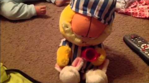 Rare Pajama Jammin' Garfield by Gemmy industries