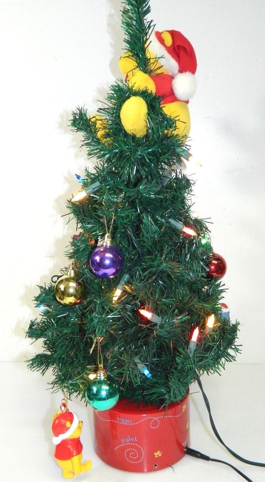 winnie the pooh animated christmas tree music lights disney tigger piglet gemmy 9jpg - Christmas Tree Wiki