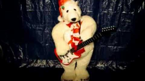 17036 Gemmy 4ft Animated Guitar Playing Bear Song 2