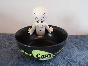 Gemmy Casper Friendly Ghost Singing Motion Activated Halloween Prop Candy Bowl