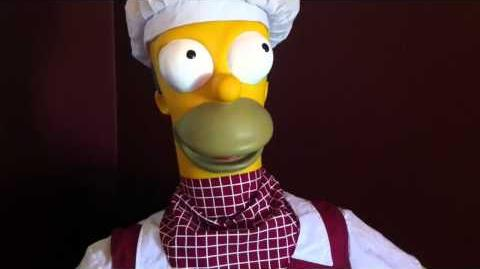 (RARE) gemmy life size homer simpson