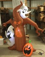 7ft Gemmy Airblown Inflatable Halloween Scary Tree With Ghosts Prototype