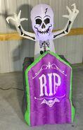 Gemmy Prototype Halloween Animated Inflatable Pop-Up Skeleton In Tombstone 1