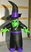 Gemmy Prototype Halloween Inflatable Reaching Witch 1