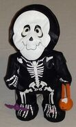 SINGING & DANCING SKELETON by GEMMY SINGS SUPER FREAK HALLOWEEN DECORATION