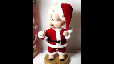Animated Porky Pig Singing Blue Christmas Figurine