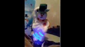Gemmy animated Spinning snowflake Frosty the snowman
