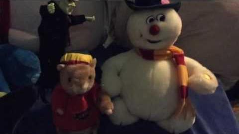 VERY RARE Gemmy head bobbing frosty the snowman