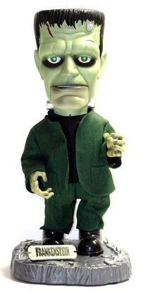 2001 Gemmy Industries Big Head Frankenstein 17'' Animated Figure Box 2