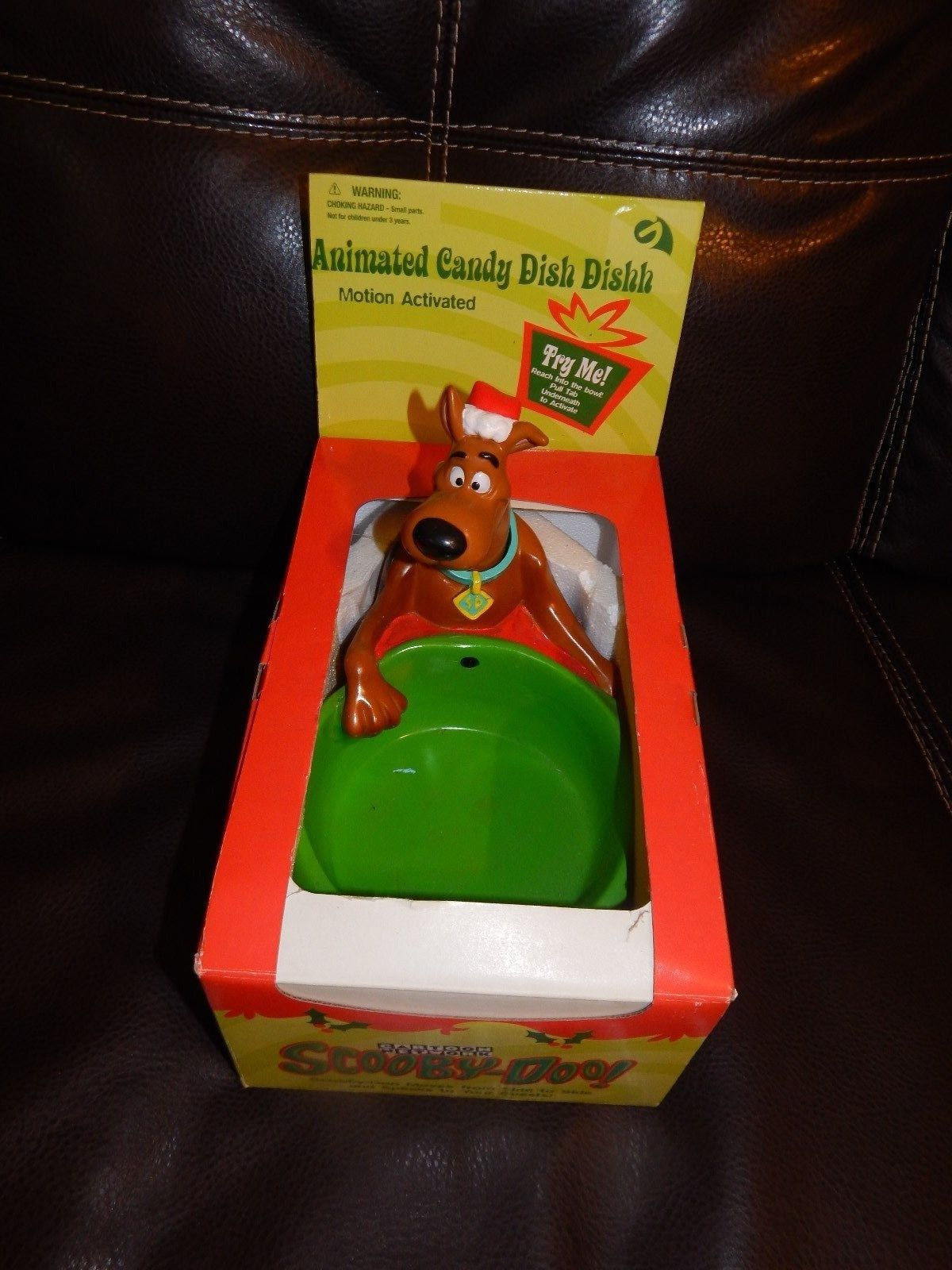 scooby doo rare animated christmas holiday candy dish new gemmy 2000 - Christmas Candy Dishes
