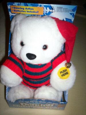 Gemmy Animated Dancing 9'' Soft Plush Christmas Bear--Dances to Jingle Bell Rock