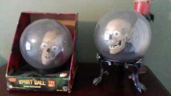 Gemmy Animated Skull w Eyes Spirit Ball (Rare)