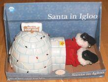 Gemmy Santa In Igloo - Iluminated Igloo Animated & Talking Santa - New-In-Box