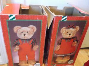 Gemmy hip swinging girl and boy bears 5