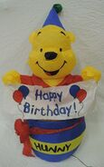 Gemmy inflatable whinnie the pooh birthday