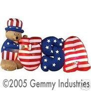 PATRIOTIC JULY 4TH AIRBLOWN INFLATABLE UNCLE SAM 6 FT