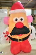 9ft Gemmy Airblown Inflatable Christmas Mr. Potato Head As Santa Prototype
