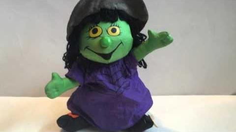 Gemmy 2000 Unconfirmed PROTOTYPE Animated Singing & Dancing ''Evil Ways'' Plush Witch