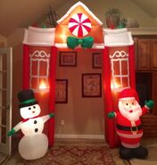 Gemmy Prototype Christmas Archway Inflatable Airblown