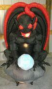Gemmy Prototype Halloween Inflatable Black Gargoyle