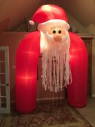 Gemmy Prototype Christmas Santa Archway Inflatable Airblown