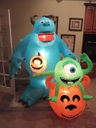 Gemmy inflatable Monsters inc Halloween scene