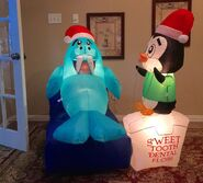 Gemmy Prototype Christmas Penguin Walrus Sweet Tooth Inflatable Airblown