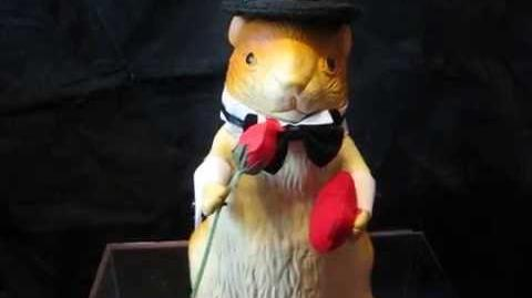 Gemmy Rubber Dancing Hamster - Larry Love Rare Prototype(?)-0