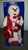 Christmas Gemmy Peppermint Spinning Snowman