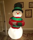 Gemmy Prototype Christmas Shaking Snowman Inflatable Airblown