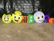 Gemmy Prototype Halloween Inflatable Emoticon Collection