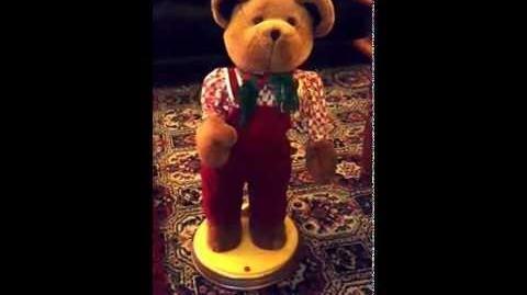 Gemmy Animated Hip Swinging Bear (Rare)