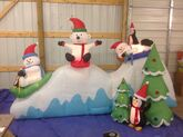 Gemmy inflatable winter wonderland friend sledding